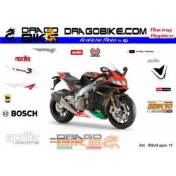 Stickers Kit Aprilia RSV4...