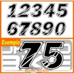 Set Number for Race tape Leo