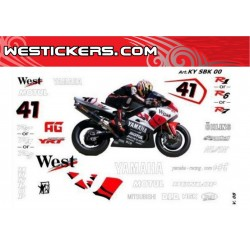 Motorbike Stickers Kit Yamaha SBK 2000 West