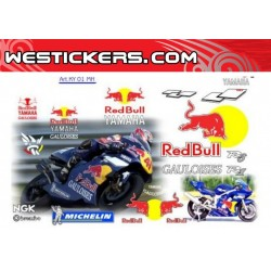 Stickers Kit Yamaha Redbull...