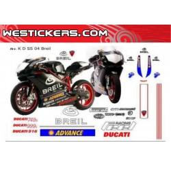Motorbike Stickers Kit Ducati SuperSport Breil team 2004