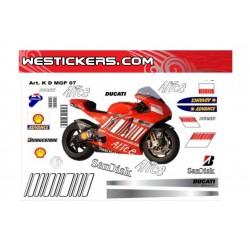 Stickers kit Ducati MotoGP 2007