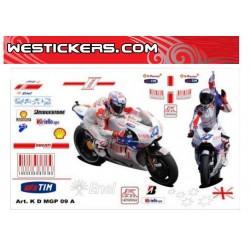 Motorbike Stickers Kit Ducati MotoGP 2009 Australia