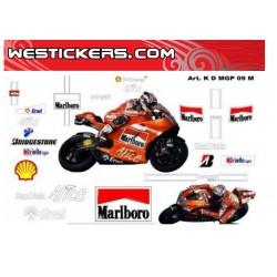 Motorbike Stickers Kit Ducati MotoGP 2009 Marlboro