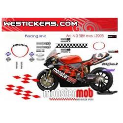Sticker Kit Ducati 998 SBK...