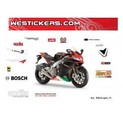 Stickers Kit Aprilia RSV4 aprc 2011