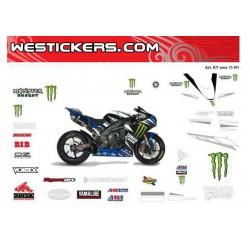 Motorbike Stickers Yamaha R1 2011 SBK  Ama