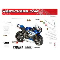 Motorbike Stickers Replica Yamaha SBK 2011