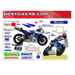 Stickers kit Race Replica Honda SBK Ten Kate 2006 Logo no-smoke