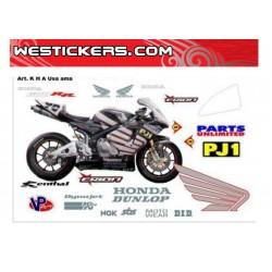 Stickers kit Honda SS/SBK team Erion USA 2006