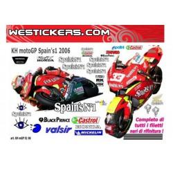 Motorbike Stickers Kit Honda MotoGP Spain's N1 06
