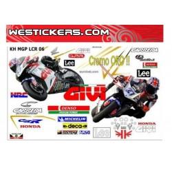 Sticker kits Race Replica Stoner Honda LCR 2006