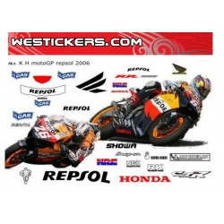 Stickers kit Honda MotoGp Repsol 2006