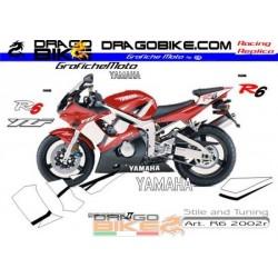 Stickers kit Yamaha R6 2002r