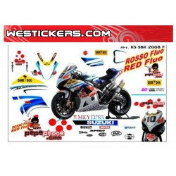 Stickers Kit Suzuki SBK 2008 F